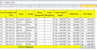 format laporan pada microsoft Excel